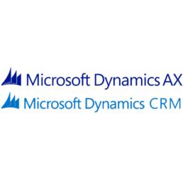 Microsoft Dynamics AX en CRM logo's